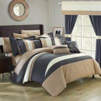 Chic Home Placido 24-Piece Queen Comforter Set in Grey