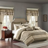 Madison Park Essentials Jelena 24-Piece King Comforter Set in Natural