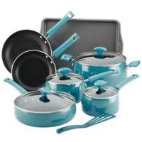 Rachael Ray™ Cityscapes Porcelain Enamel 12-Piece Cookware Set in Turquoise