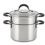 Circulon® Momentum™ Stainless Steel Nonstick 3 qt. Straining Saucepot with Steamer Insert