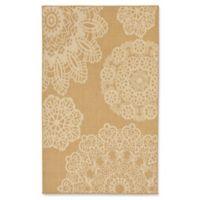 Liora Manne Terrace Crochet 4-Foot 10-Inch x 7-Foot 6-Inch Indoor/Outdoor Area Rug in Beige