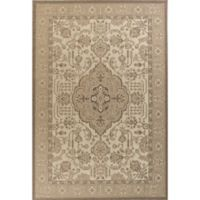KAS Tahoe Morrocco 9-Foot 10-Inch Round Area Rug in Ivory/Beige