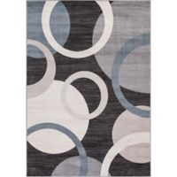 Lara Circles 5-Foot 3-Inch x 7-Foot 7-inch Area Rug in Anthracite
