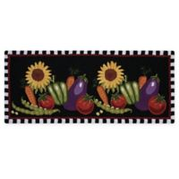 Nourison Everywhere 22-Inch x 54-Inch Vegetable Kitchen Rug in Black