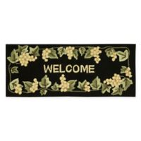 Nourison Everywhere 22-Inch x 54-Inch Welcome Kitchen Mat in Black