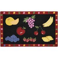 Nourison Everywhere 27-Inch x 45-Inch Fruit Kitchen Rug in Black