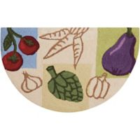 Nourison Everywhere Vegetables 2-Foot 8-Inch x 1-Foot 7-Inch Accent Rug in Beige