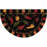 Nourison Everywhere Chili Pepper 2-Foot 8-Inch x 1-Foot 7-Inch Accent Rug in Black