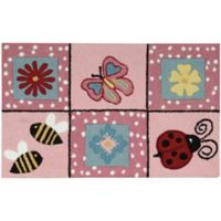 Nourison Everywhere 18-Inch x 30-Inch Floral Kitchen Mat in Pink