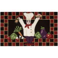 Nourison Everywhere 20-Inch x 32-Inch Chef Kitchen Mat in Black