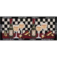 Nourison Everywhere 20-Inch x 33-Inch Wine Kitchen Mat in Black
