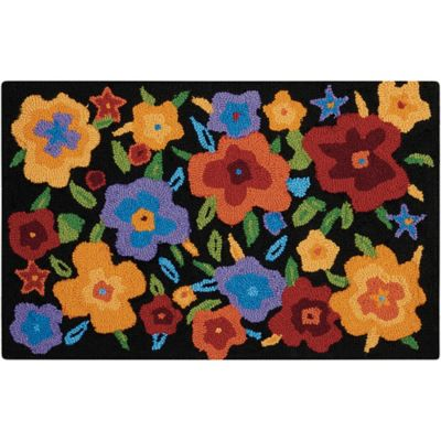 Lovely Nourison Everywhere 20 Inch X 33 Inch Multicolor Floral Kitchen Rug