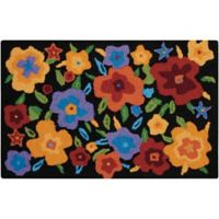 Nourison Everywhere 20-Inch x 33-Inch Multicolor Floral Kitchen Rug
