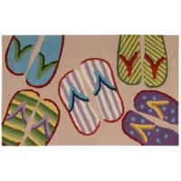 Nourison Everywhere 20-Inch x 33-Inch Flip-Flop Kitchen Mat in Beige