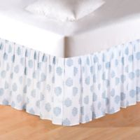 Providence Chambray Queen Bed Skirt in White