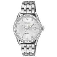 Citizen Drive Ladies' 37mm Swarovski® Crystal Watch in Stainless Steel