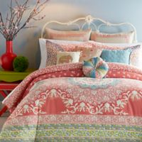 Jessica Simpson Amrita Medallion Full/Queen Comforter Set in Coral