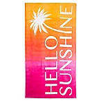 Hello Sunshine Beach Towel in Pink/Yellow