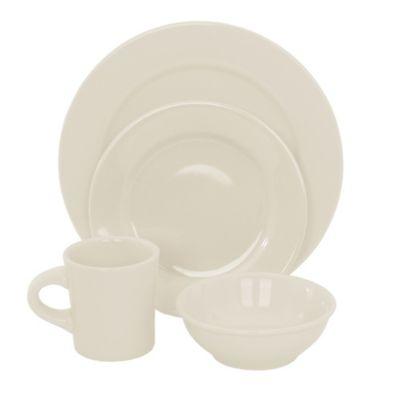 Oneida® Buffalo 16-Piece Dinnerware Set in White  sc 1 st  Bed Bath \u0026 Beyond & Buy Retro Dinnerware Sets from Bed Bath \u0026 Beyond