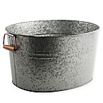 Heritage Home Galvanized Metal and Copper Ice Bucket