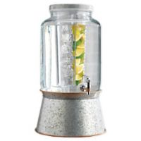 Heritage Home 3-Piece Galvanized Metal and Copper Beverage Dispenser and Infuser Set