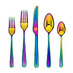 Cambridge® Silversmiths Logan Rainbow Mirror 20-Piece Flatware Set