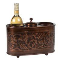 """Old Dutch International """"Heritage"""" Hammered Antique Copper 2-Bottle Wine Cooler"""