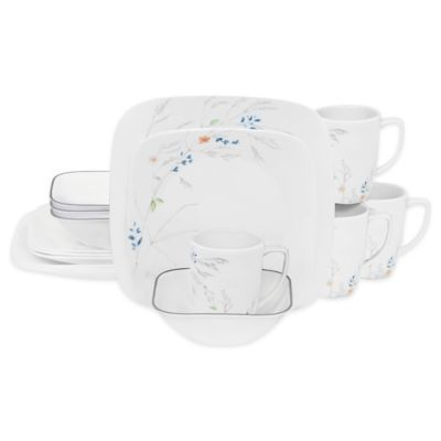 Corelle® Adlyn 16-Piece Dinnerware Set  sc 1 st  Bed Bath \u0026 Beyond & Buy White Square Dinnerware from Bed Bath \u0026 Beyond
