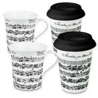 Konitz Vivaldi Libretto To Stay and To Go Mugs (Set of 4)