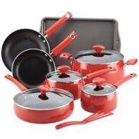 Rachael Ray™ Cityscapes Porcelain Enamel 12-Piece Cookware Set in Cherry