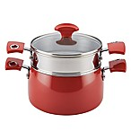 Rachael Ray™ Nonstick Porcelain Enamel 3 qt. Covered Steamer Set in Cherry