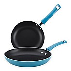 Rachael Ray™ Cityscapes Porcelain Enamel Skillet Twin Pack in Turquoise