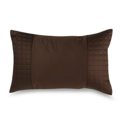 Hotel Collection Mulberry Decorative Pillows : Hotel Collection Encasa Oblong Throw Pillow in Chocolate - Bed Bath & Beyond