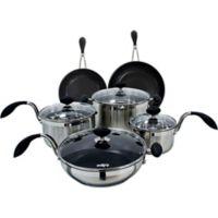 EAZIGRIP Nonstick Stainless Steel 10-Piece Cookware Set