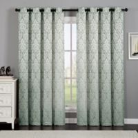 VCNY Home Calibra Jacquard 84-Inch Grommet Top Window Curtain Panel in Blue