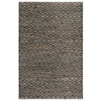 Fab Habitat Madiera 4-Foot x 6-Foot Area Rug in Black/Natural