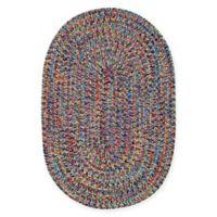 Capel Rugs Sea Pottery 9-Foot 2-Inch x 13-Foot 2-Inch Oval Indoor/Outdoor Rug in Multicolor