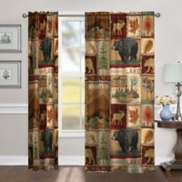 Laural Home Lodge Collage 95-Inch Room-Darkening Rod Pocket Window Curtain Panel