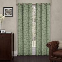 SolarShield® Sphere 108-Inch Grommet Top Room Darkening Window Curtain Panel in Sage