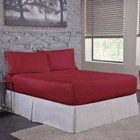 Bed Tite™ 300-Thread-Count Cotton Twin Sheet Set in Burgundy