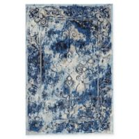 Feizy Manfred 2-Foot 2-Inch x 4-Foot Accent Rug in Grey/Dark Blue
