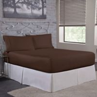 Bed Tite™ 300-Thread-Count Cotton Full Sheet Set in Chocolate