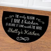 Sassy Kitchen Quotes Half Round Door Mat