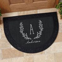 Farmhouse Floral Half Round Door Mat