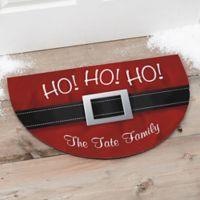 Ho! Ho! Ho! Santa Belt Half Round Door Mat