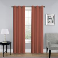 SolarShield® Mandalay 95-Inch Grommet Top Room Darkening Window Curtain Panel in Brick