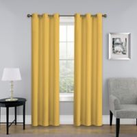 SolarShield® Mandalay 84-Inch Grommet Top Room Darkening Window Curtain Panel in Burnt Yellow