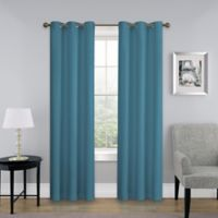 SolarShield® Mandalay 63-Inch Grommet Top Room Darkening Window Curtain Panel in Peacock
