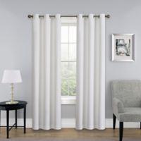 SolarShield® Mandalay 84-Inch Grommet Top Room Darkening Window Curtain Panel in White