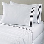 Great Bay Home Damascus Queen Sheet Set in White/Pewter